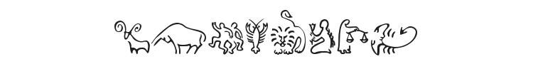 SL Zodiac Icons Font Preview