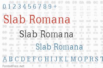 Slab Romana Font