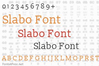 Slabo Font