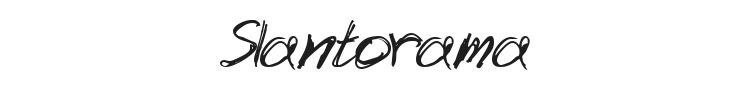 Slantorama Font Preview