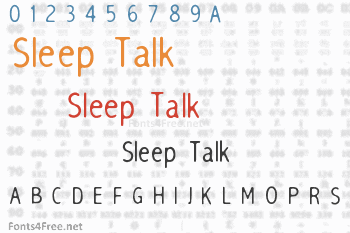 Sleep Talk Font