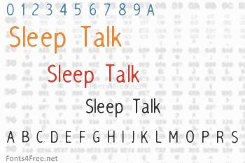 Sleep Talk Font