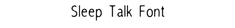 Sleep Talk Font Preview