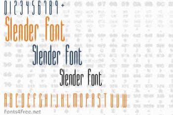 Slender Font
