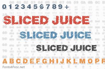 Sliced Juice Font