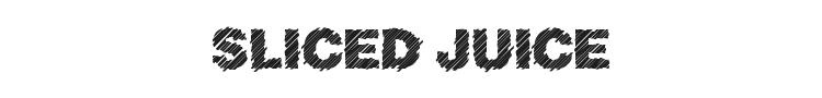 Sliced Juice Font Preview