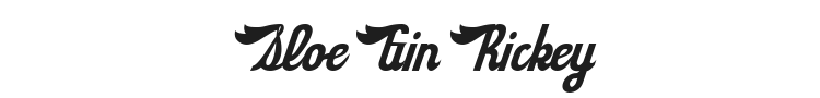 Sloe Gin Rickey Font Preview