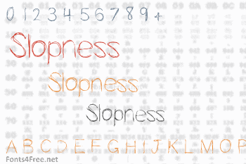 Slopness Font