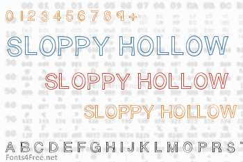 Sloppy Hollow Font