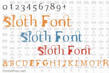 Sloth Font