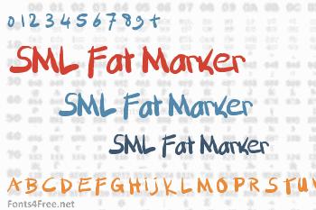 SML Fat Marker Font