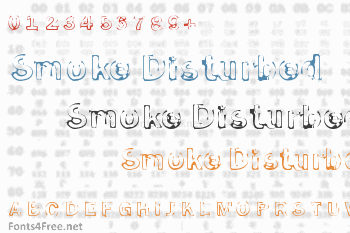 Smoke Disturbed Font