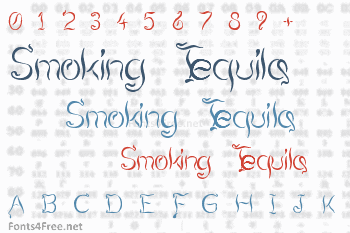 Smoking Tequila Font