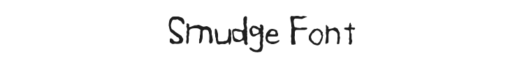 Smudge Font Preview