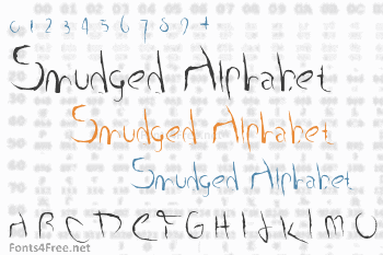 Smudged Alphabet Font