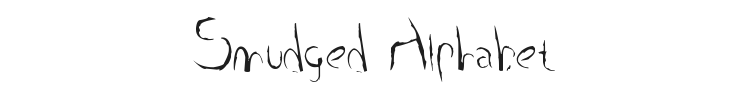 Smudged Alphabet Font Preview