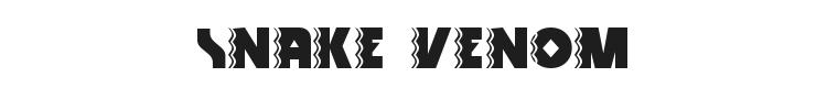 Snake Venom Font