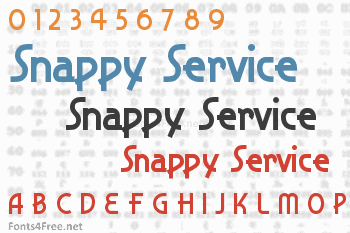 Snappy Service Font