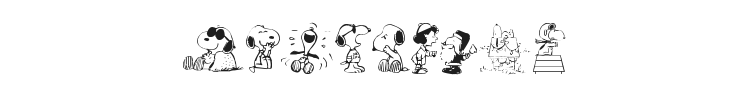 Snoopy Dings Font Preview