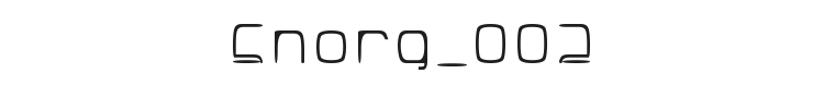 Snorg_002 Font Preview