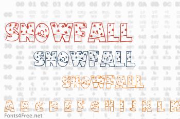 Snowfall Font