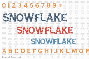 Snowflake Letters Font