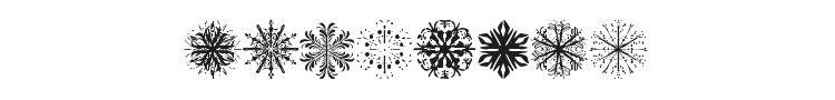 Snowflakes Font Preview