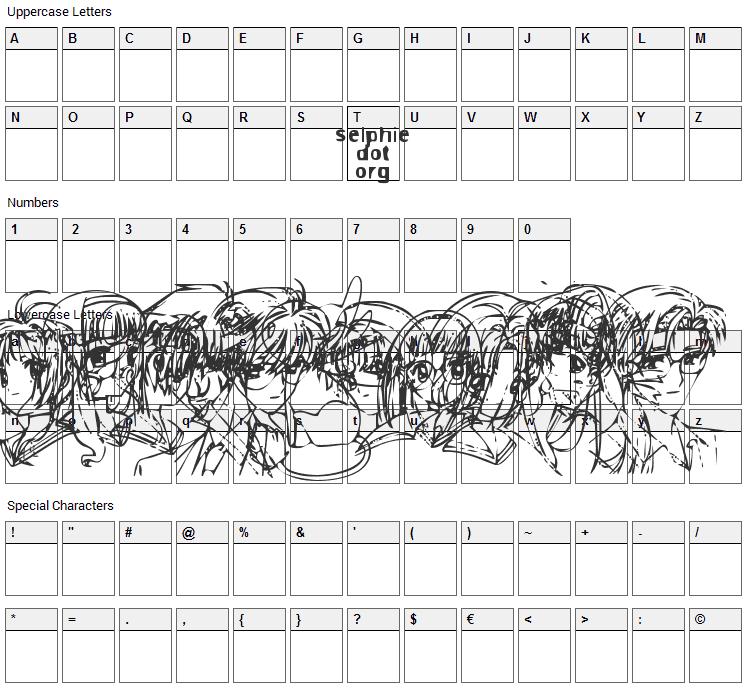 SO CC-Sakura Font Character Map