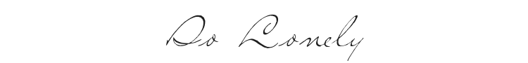 So Lonely Font