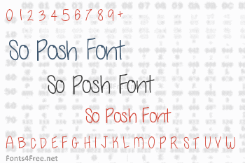 So Posh Font