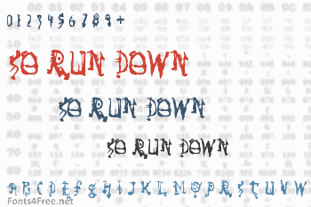So Run Down Font