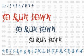 So Run Down Font