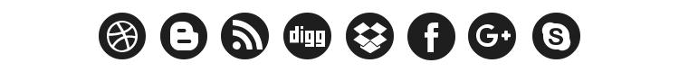 Social Circles Font Preview