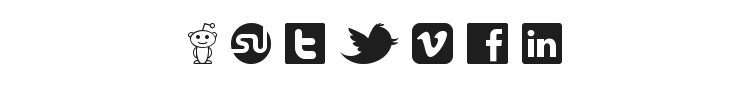 Social Logos Font Preview