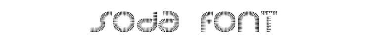 Soda Font Preview