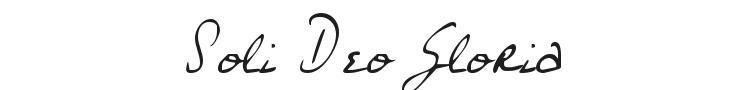 Soli Deo Gloria Font
