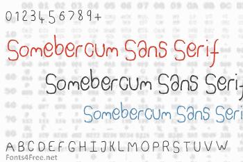 Somebercum Sans Serif Font