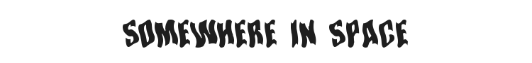 Somewhere In Space Font Preview
