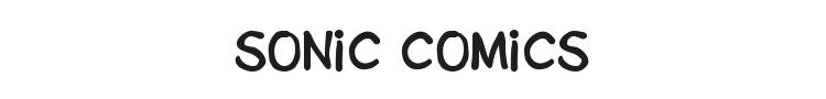 Sonic Comics Font Preview