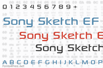 Sony Sketch EF Font
