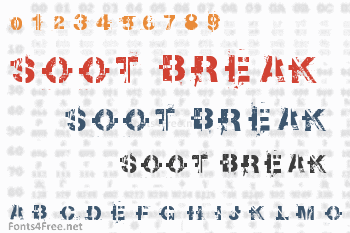Soot Break Font