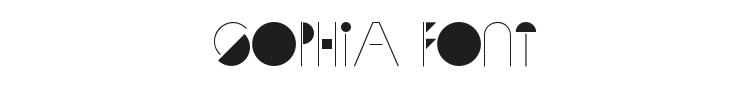 Sophia Font Preview