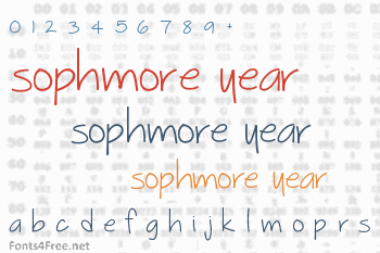 Sophmore Year Font