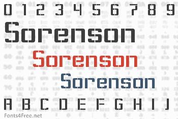 Sorenson Font