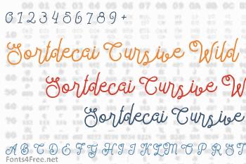 Sortdecai Cursive Wild Script Font