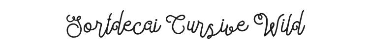 Sortdecai Cursive Wild Script Font Preview