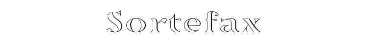 Sortefax Font Preview