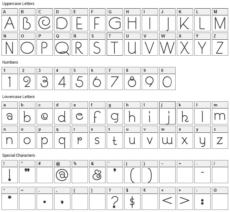SouciSans Font Character Map
