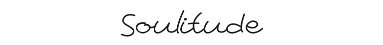 Soulitude Font Preview
