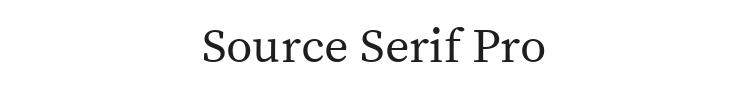 Source Serif Pro Font Preview